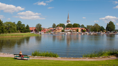 summer view sweden mariefred