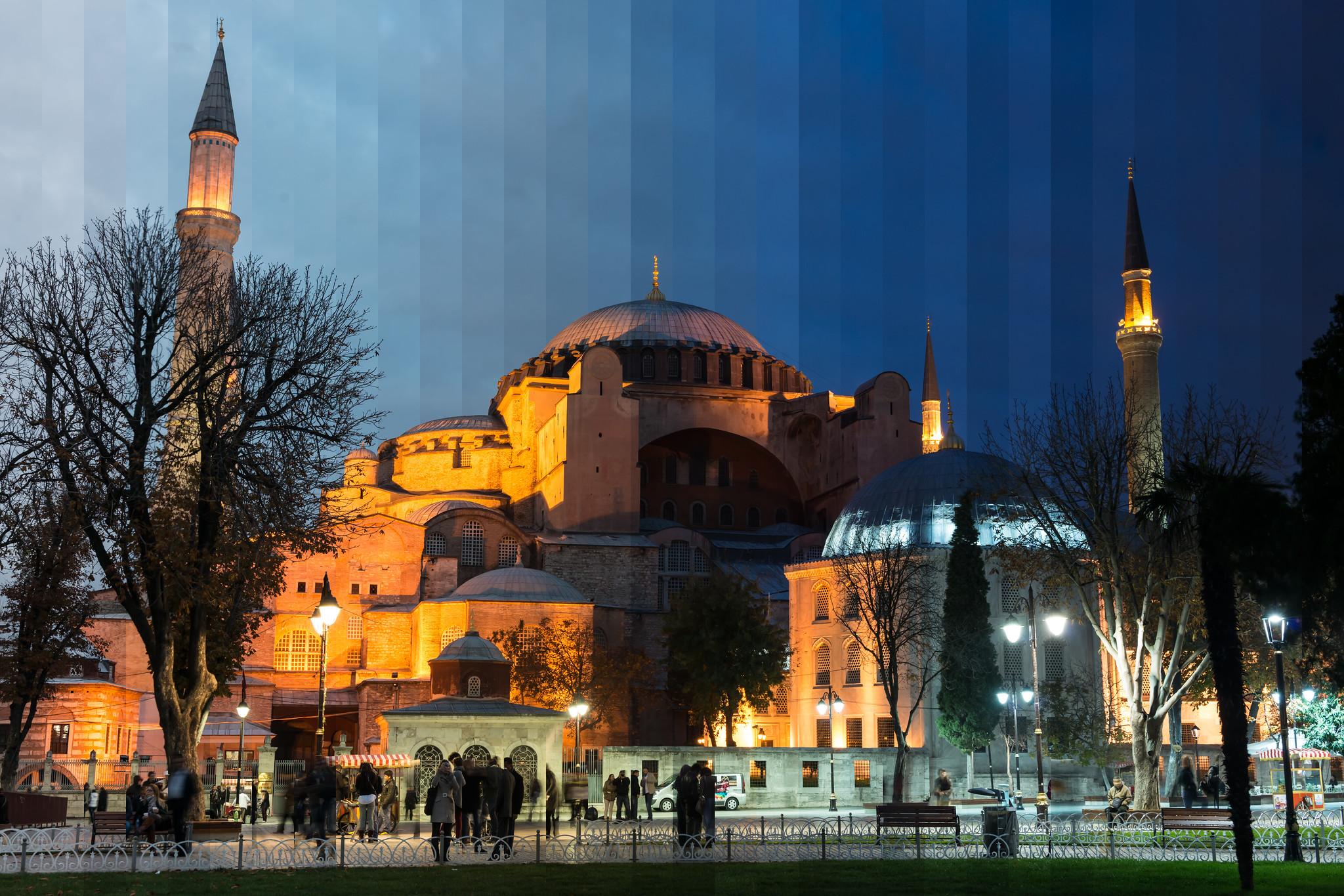 """""""Time Slice"""" Hagia Sophia, Istanbul, Turkey"""