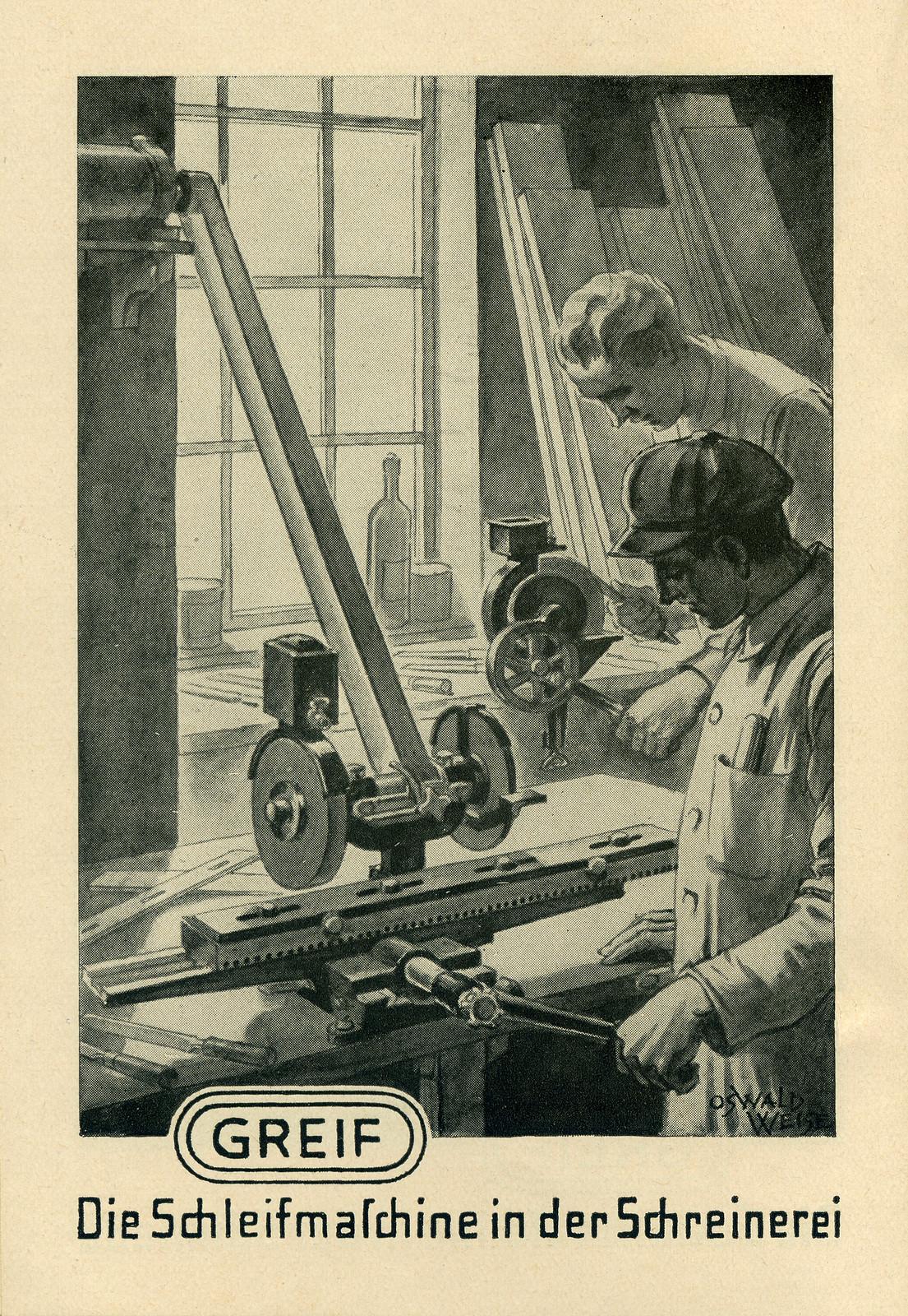 Werbeheftchen für Greif Schleifmaschinen, Bild 4