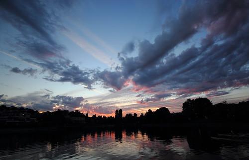 sunset cloudy