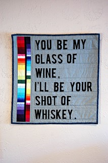 Wine and Whiskey Mini Quilt | by Sarah.WV