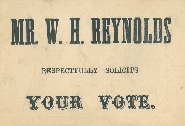 Voting Card for WH Reynolds