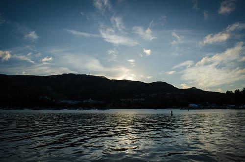 canada sunrise landscape quebec lac monttremblant