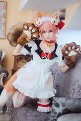 Tamamo no Mae Caster Maid Cosplay