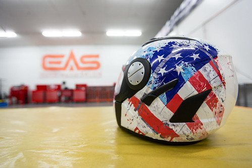 We can wrap anything, including helmets to express your personality or match your bike. | by eliteautosalon719