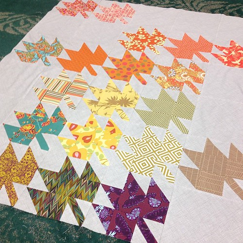 My #modernmaples quilt top.  #ohcraftsewin