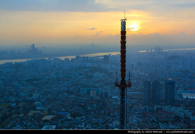 View from N Seoul Tower @ Sunset, Seoul, South Korea