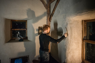 Tyler & Shadow Applying Finish Coat of Lime Plaster | by goingslowly