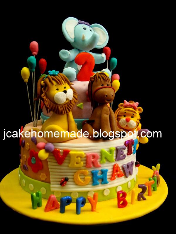 Stupendous Animals Birthday Cake Happy 2Nd Birthdya Vernette Chaw Th Flickr Funny Birthday Cards Online Benoljebrpdamsfinfo