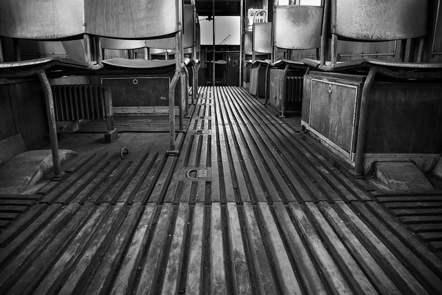Interior of a San Diego Trolley (Retired)