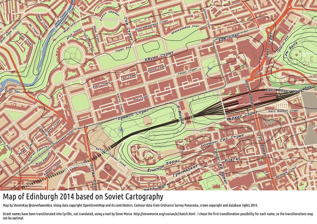 Soviet Military Map of Edinburgh 2014, using QGIS | Emulatin… | Flickr