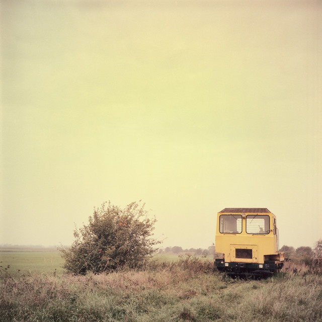 The Yellow Railcar In The Field