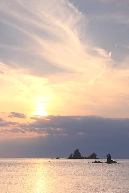 大田子海岸の夕暮れ