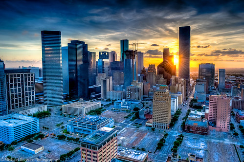 city sunset urban clouds buildings extreme houston aerialphotography hdr aeiral houstondowntown 5fhdr