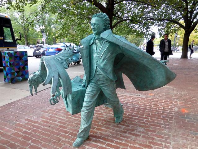 Edgar Allan Poe takes Boston in stride