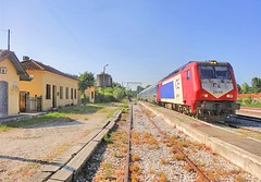 Greece, Macedonia & Western Thrace, Toxotes, stationed OSE train enroute to Thessaloniki