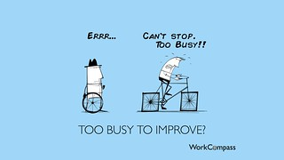 Too Busy To Improve - Performance Management - Square Wheels | by Alan O'Rourke