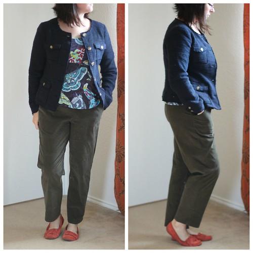 nov 2 simplicity 1377 pants collage blue jacket