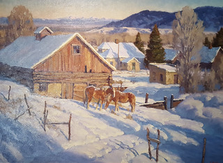 Ranch Buildings above Rock Creek, Charles Fritz