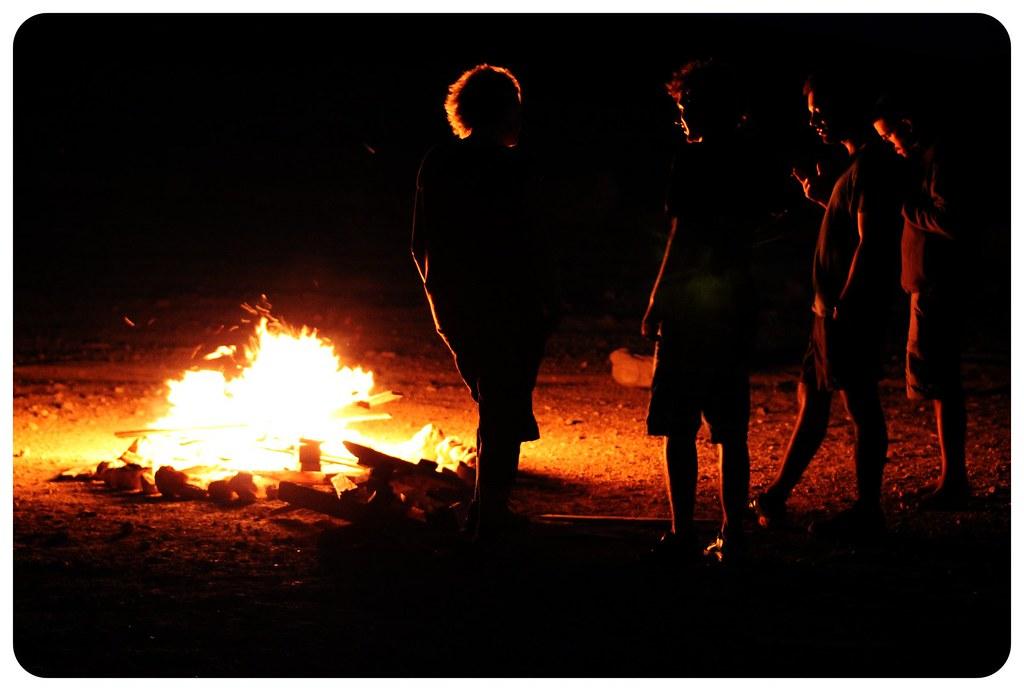negev desert campfire israel