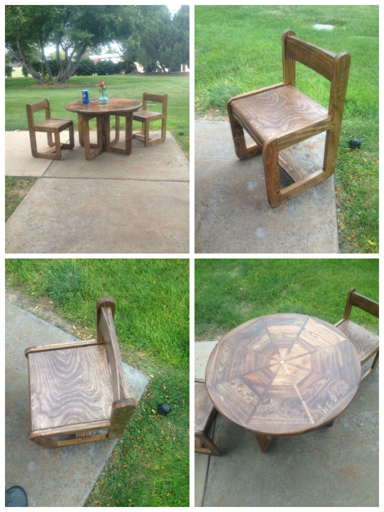 Kids' Pallet Table and Chair | Easy Pallet Garden Ideas Anyone Can Make