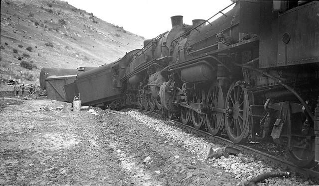 Iran Railways - scenes along the Trans Iranian Railway in 1942