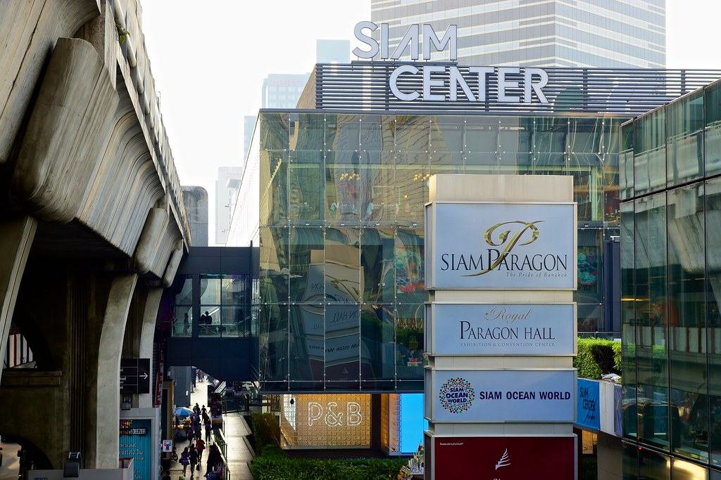 Siam Center seen from BTS Skytrain Central station next to… | Flickr