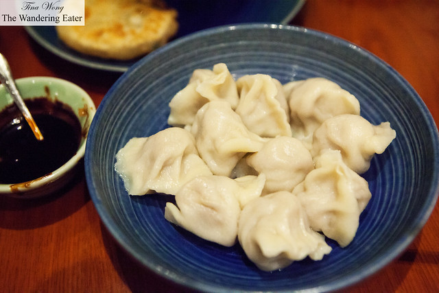 Northern Chinese style boiled beef dumplings