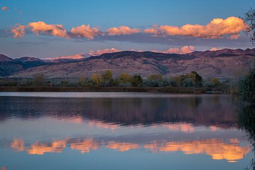 sunrise rockymountains bouldercolorado cootlake