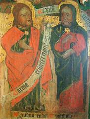 Mattishall screen: St Jude and St Matthew (15th Century)