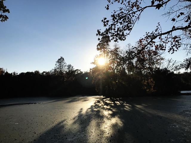 Sunset at Magnolia Gardens