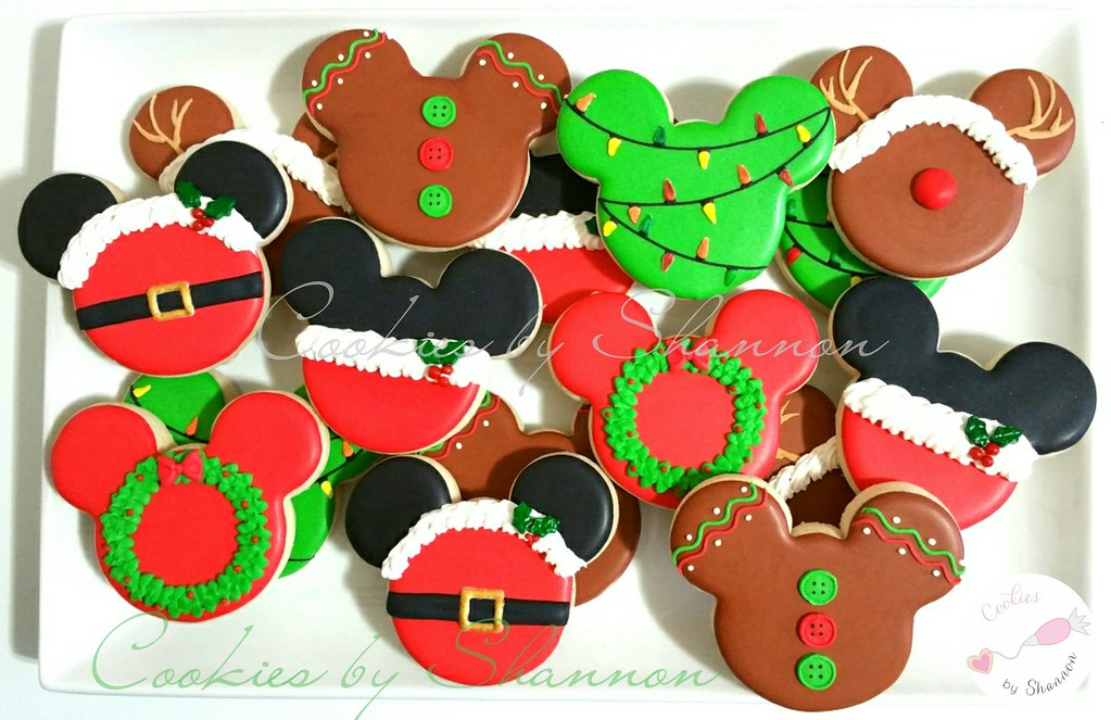 Christmas Mickey Mouse Cookies Shannon Tyler Flickr