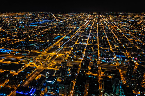 world street city nightphotography usa chicago car night town illinois highway downtown cityscape nightscape unitedstates il northamerica 2014 willistower