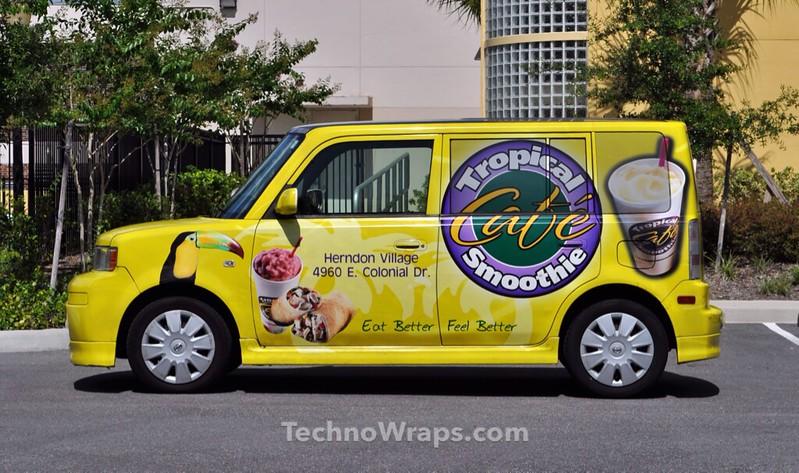 Scion Xb car wrap in Florida