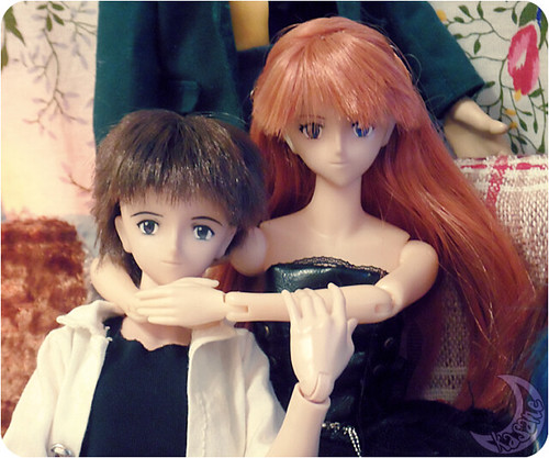 Shinji and Aska | by kasane_and_ko