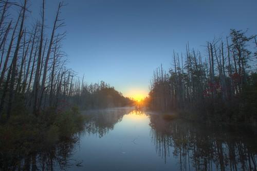 blue sunrise newjersey nj clear pinelands oceancounty hdr pinebarrens 2014 canon1635l canon6d freshwaterwetlands greenwoodforestwma