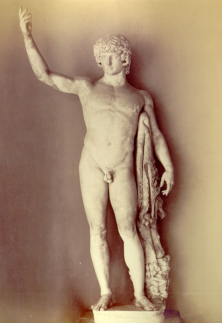 Vintage photo of Antinoos Statue