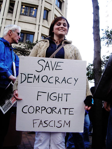 Save democracy fight corporate fascism | by Nney