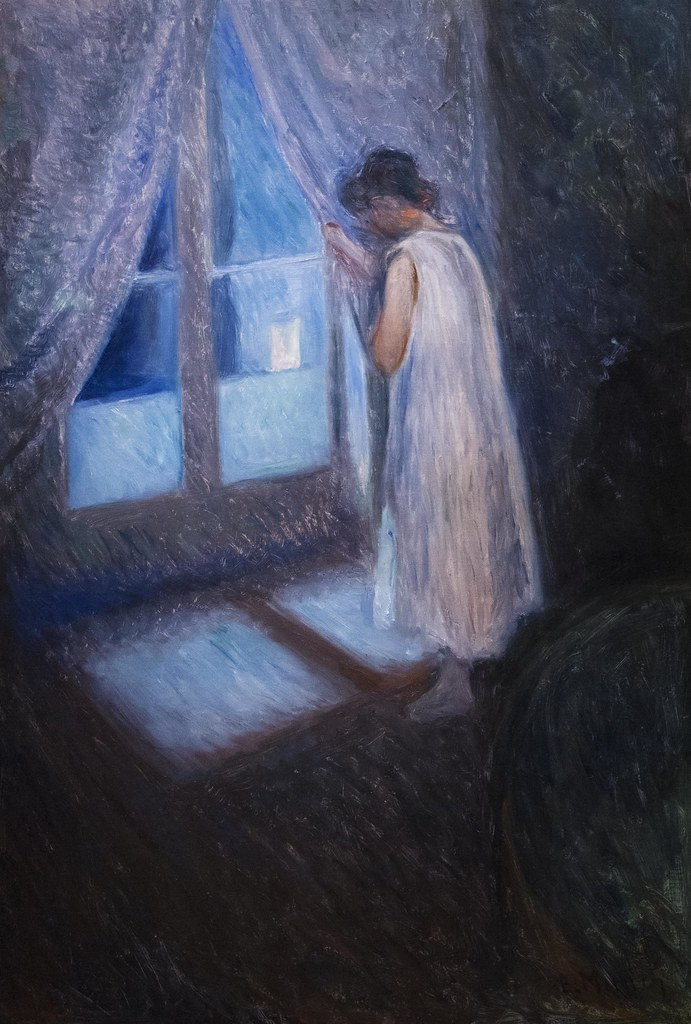 edvard munch  girl looking out the window