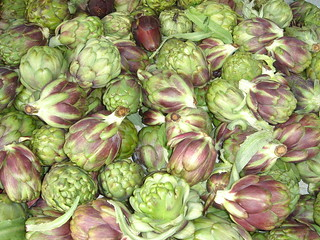 Baby Purple Artichokes at Hollywood Farmers Market | by ExperienceLA