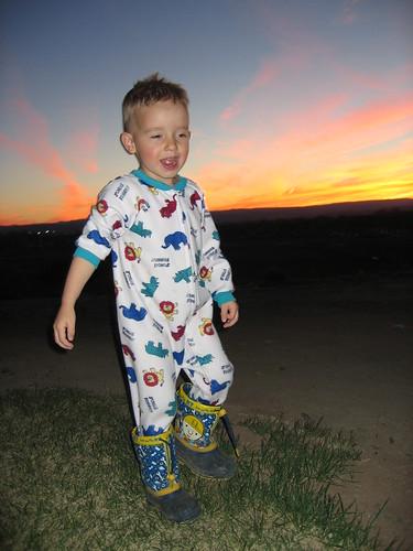 boy sunset happy child son daeker