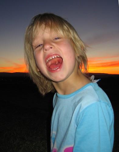 sunset children happy child daughter zion