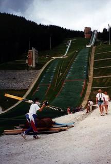 Dry ski jump slope, Le Praz, Courchevel