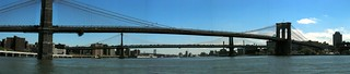NYC - Brooklyn and Manhattan Bridges (panoramic) | by wallyg