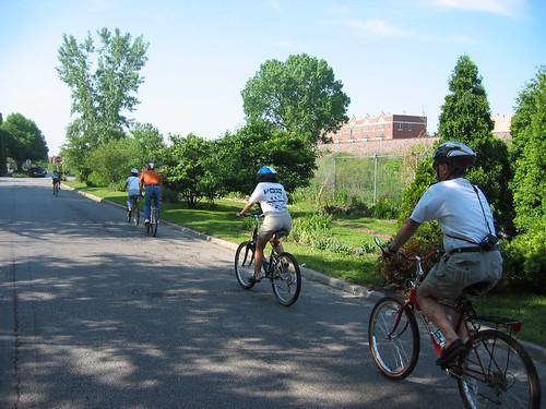 Biking home from Pauline's