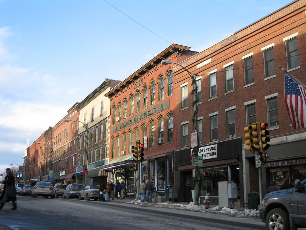 Main Street, Looking North Brattleboro, VT Postcard
