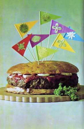 Festive Hamburger