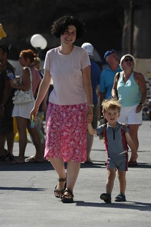 Finley and Mummy at Fira
