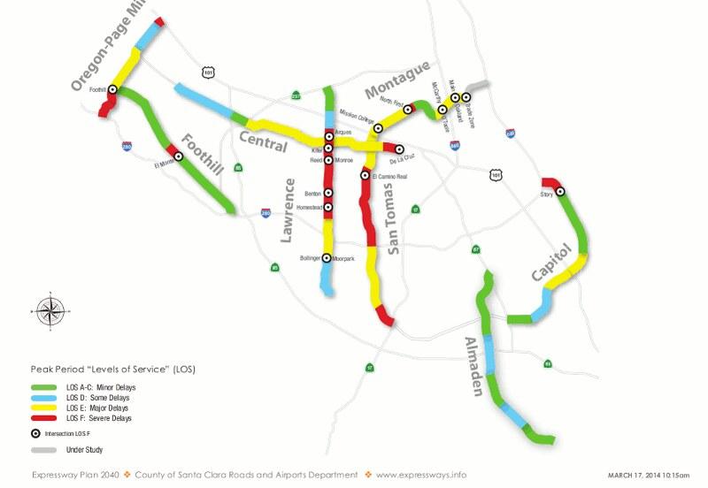 Santa Clara County Expressway Level of Service Map | Flickr