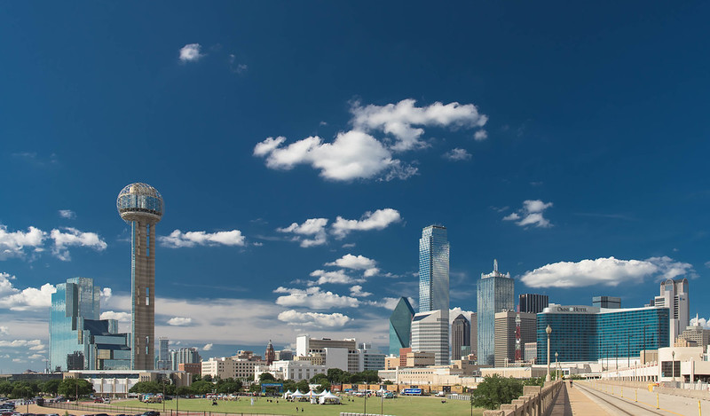 Dallas Skyline in the summer